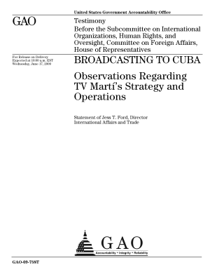 Broadcasting to Cuba  Observations Regarding TV Marti  s Strategy and Operations