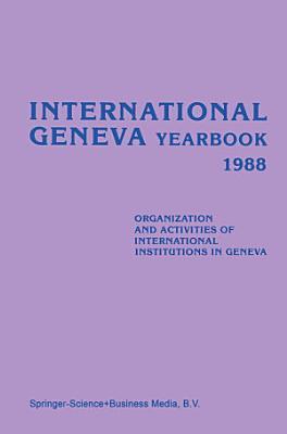 International Geneva Yearbook 1988 PDF