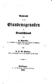 Ansprache an die Glaubensgenossen in Deutschland, etc. [asking for contributions to the Lutheran Seminary, St. Louis, U.S.].