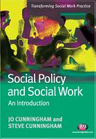 Social Policy and Social Work  An Introduction PDF