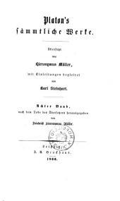 Platon's sämmtliche Werke. Übers. von Hieronymus Müller, mit Einleitungen begleitet von Karl Steinhart: Band 8