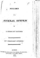 Syllabus of a Mineral System for a course of lectures