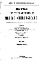 Revue de thérapeutique médico-chirurgicale: Volume1854