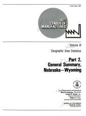 1977 census of manufactures: Geographic area statistics, Volume 2