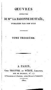 Oeuvres inédites: Mélanges, Volume 3