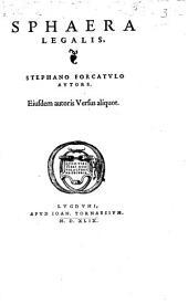 Sphaera Legalis: Eiusdem autoris Versus aliquot