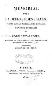 Oeuvres posthumes de Cormontaingne: Volume3