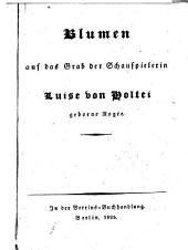 Blumen auf das Grab der Schauspierlerin Luise von Holte