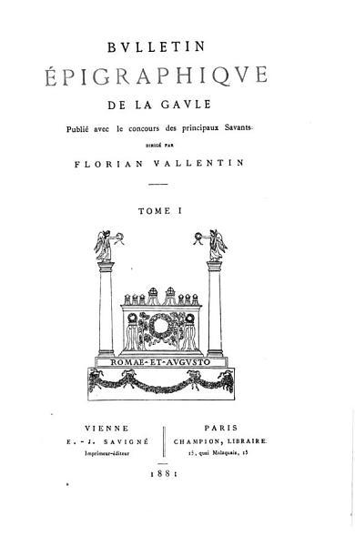 Download Bulletin   pigraphique de la Gaule Book