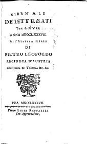 Giornale de' letterati: Volumi 67-68