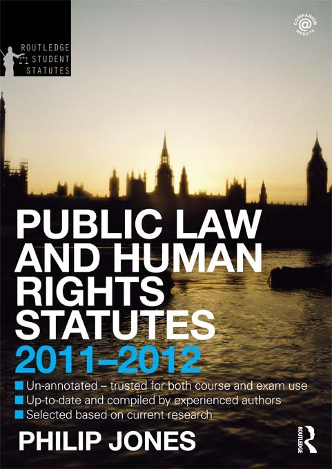 Public Law and Human Rights Statutes 2011-2012