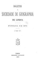 Boletim da Sociedade de geographia de Lisboa: Volume 4