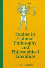 Studies in Chinese Philosophy and Philosophical Literature