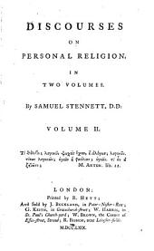 Discourses on Personal Religion: Volume 2