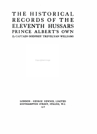 The Historical Records of the Eleventh Hussars  Prince Albert s Own PDF