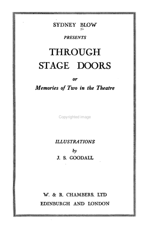 Through Stage Doors