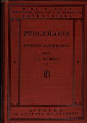 Claudii Ptolemaei Opera quae exstant omnia: Band 1,Teil 2