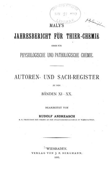 Jahresbericht   ber die Fortschritte der Thierchemie PDF