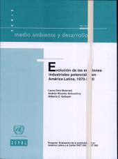 Evolución de las emisiones industriales potenciales en América Latina, 1970-2000