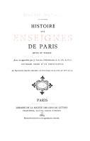 Histoire des enseignes de Paris PDF