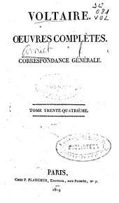 Oeuvres complètes: Correspondance générale [3], Volume34