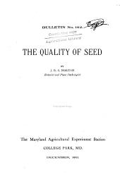 The quality of seed