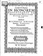 Laudes et hymni in honorem nativitatis et assumptionis Beatissimae Deiparae Virginis Mariae