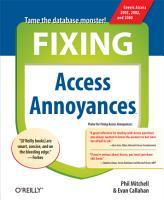 Fixing Access Annoyances PDF