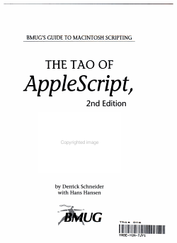 The Tao of AppleScript PDF