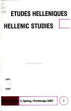 Hellenic Studies PDF