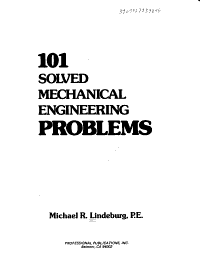PPI 101 Solved Mechanical Engineering Problems     A Comprehensive Reference Manual that Includes 101 Practice Problems for the NCEES Mechanical Engineering Exam