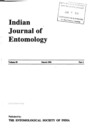 The Indian Journal of Entomology