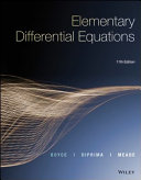 Elementary Differential Equations  Eleventh Edition
