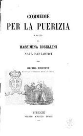Commedie per la puerizia scritte da Massimina Rosellini, nata Fantastici