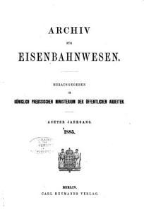 Archiv F  r Eisenbahnwesen PDF
