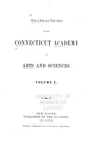 Download Transactions of the Connecticut Academy of Arts and Sciences Book