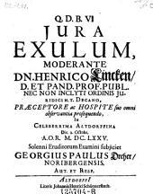 Jura exulum; praes.: Henr. Linck. - Altdorfi, Jo. Henr. Schönerstädt 1675