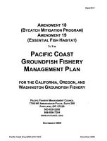 Essential Fish Habitat Designation and Minimization of Adverse Impacts  Pacific Coast Groundfish Fishery Management Plan PDF