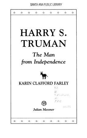 Harry S  Truman PDF