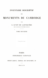 Inventaire descriptif des monuments du Cambodge: Volume 2