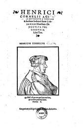 De occulta Philosophia Libri 3