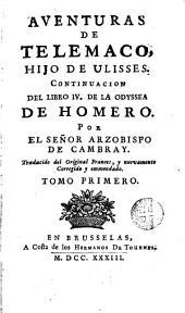 Aventures de Telemaco hijo de Ulisses: continuación del libre IV de La Odyssea de Homero