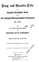 Rangliste der Koeniglich Preussischen Armee und des XIII  PDF