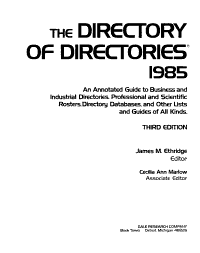The Directory of Directories PDF