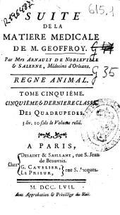 Suite de la matiere medicale de M. Geoffroy