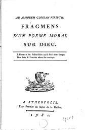 Fragmens d'un poème moral sur Dieu