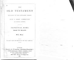 The Old Testament   According to the Authorized Version  Prophetical books  Isaiah to Malachi PDF