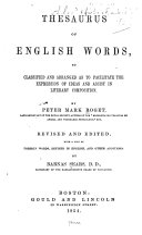 Thesaurus of English Words