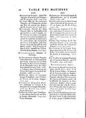 Table generale des matiéres: DI-FO