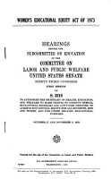 Women s Educational Equity Act of 1973 PDF